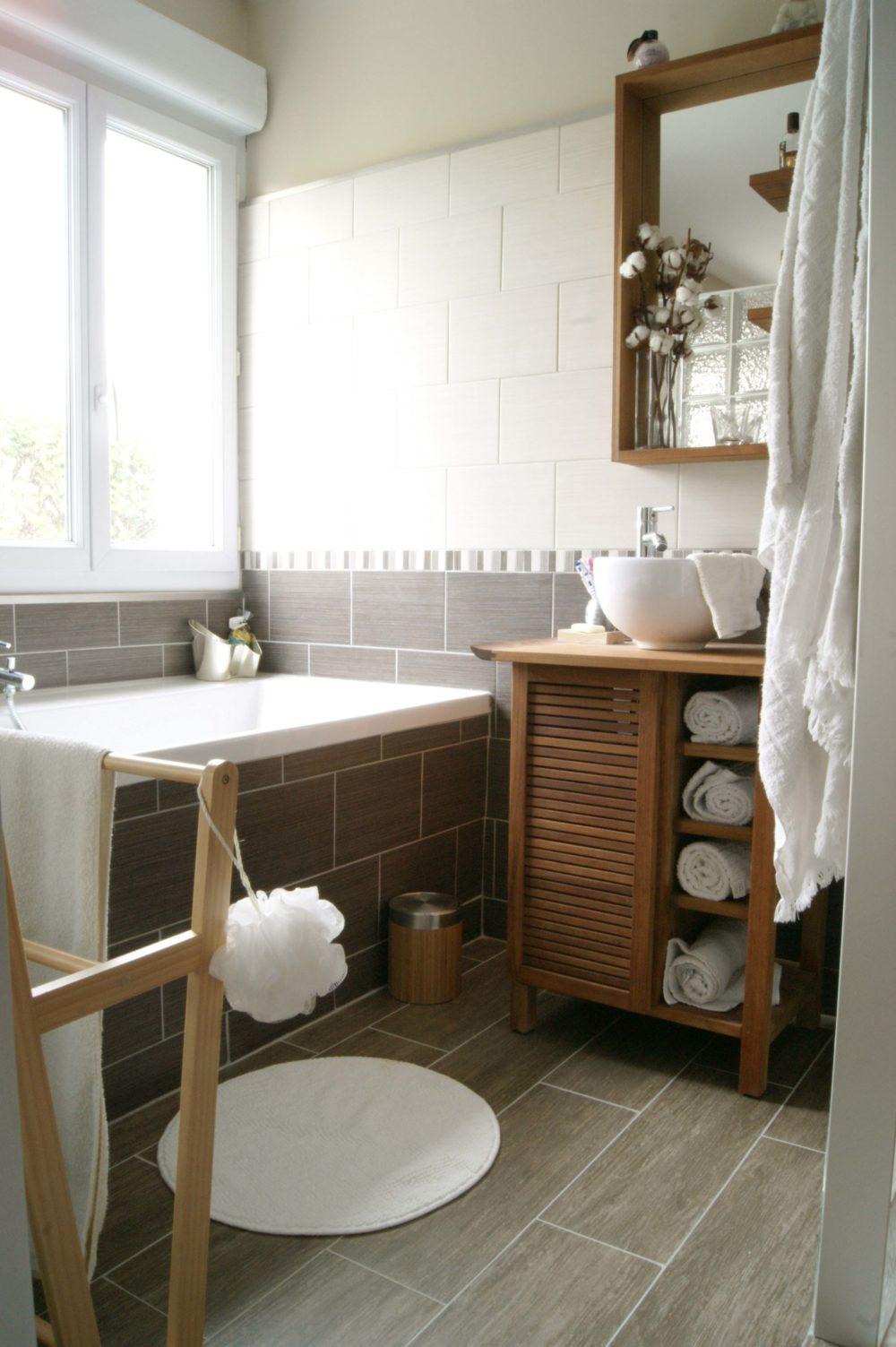 salle de bain suite parentale meuble en teck