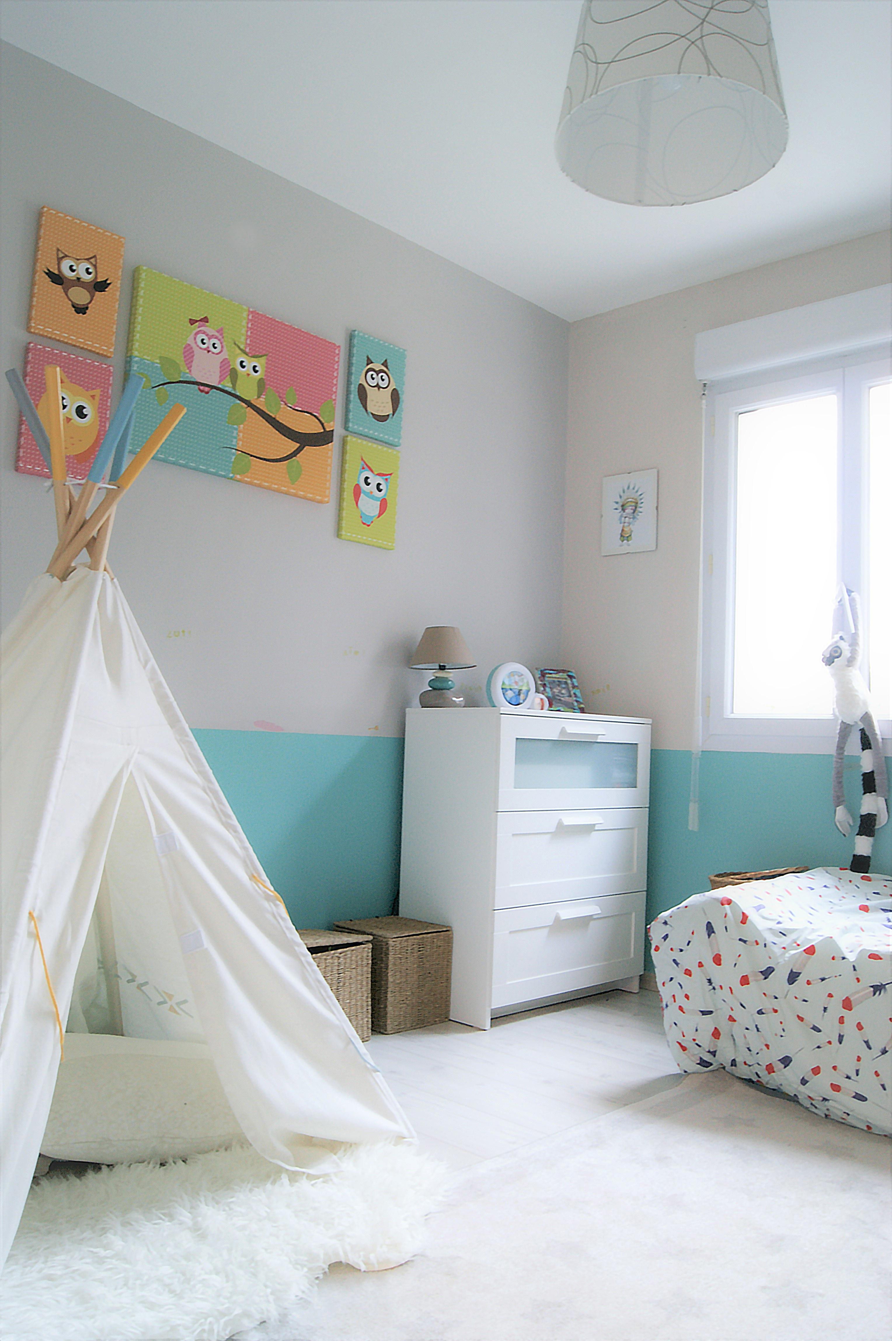 chambre enfant indien hibou